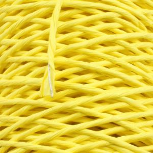Paper cord with wire, Yellow, 15m x 2mm, (ZTT088)